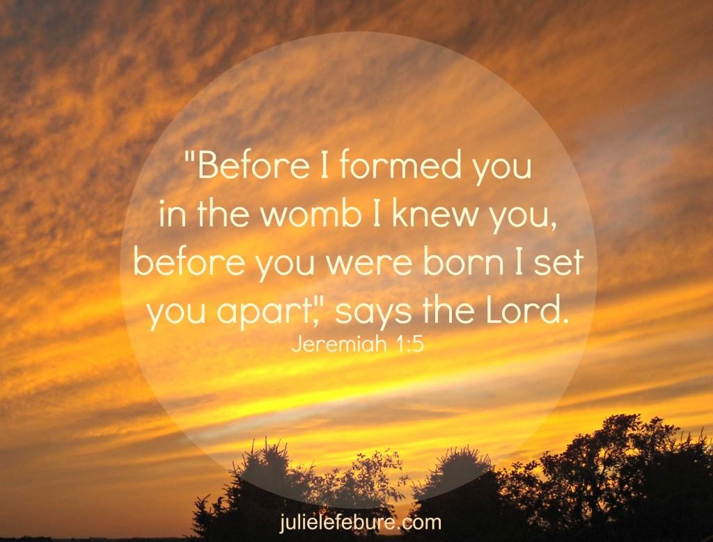 Jeremiah 1 5
