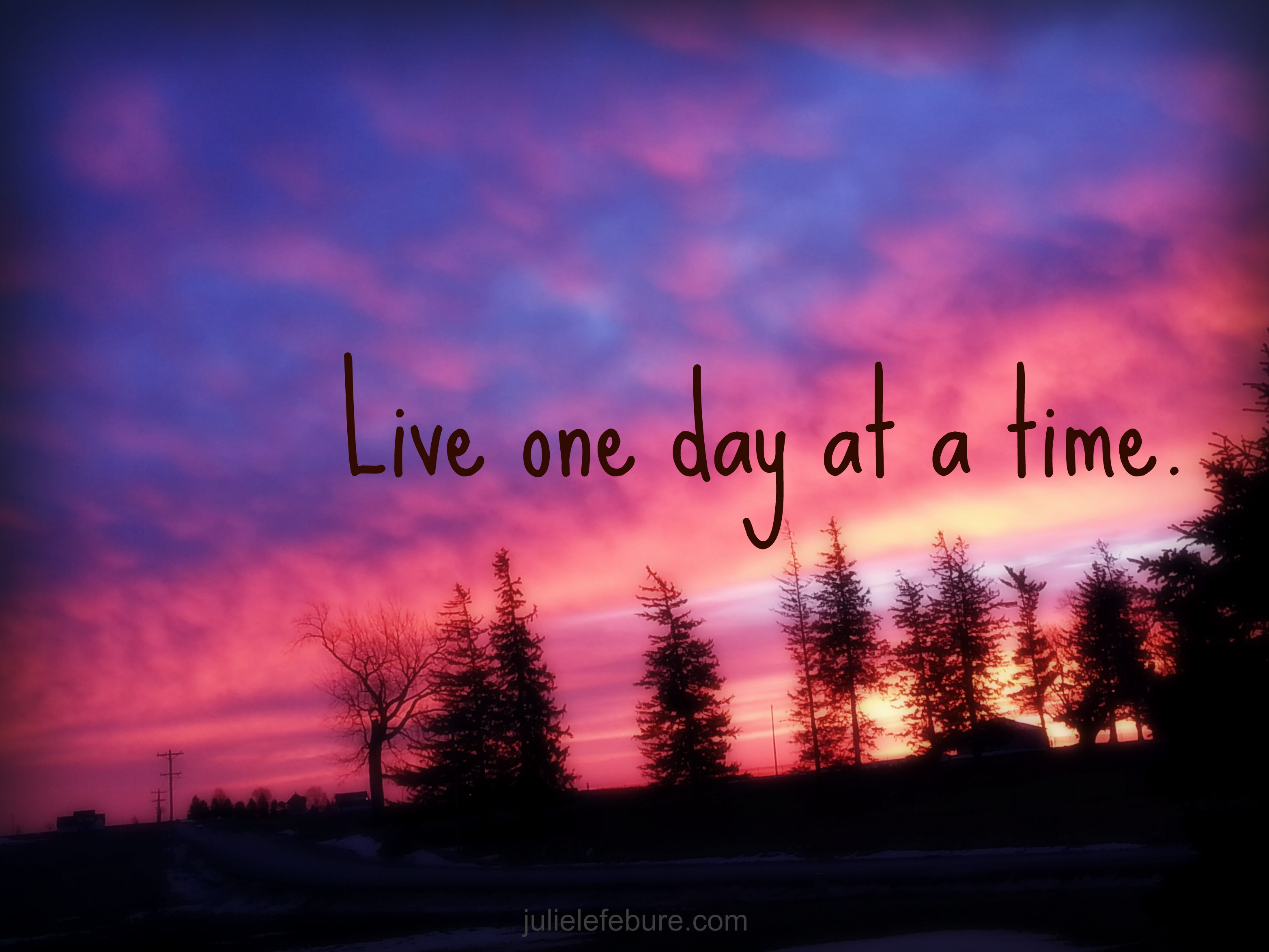 One Day At A Time - Julie Lefebure