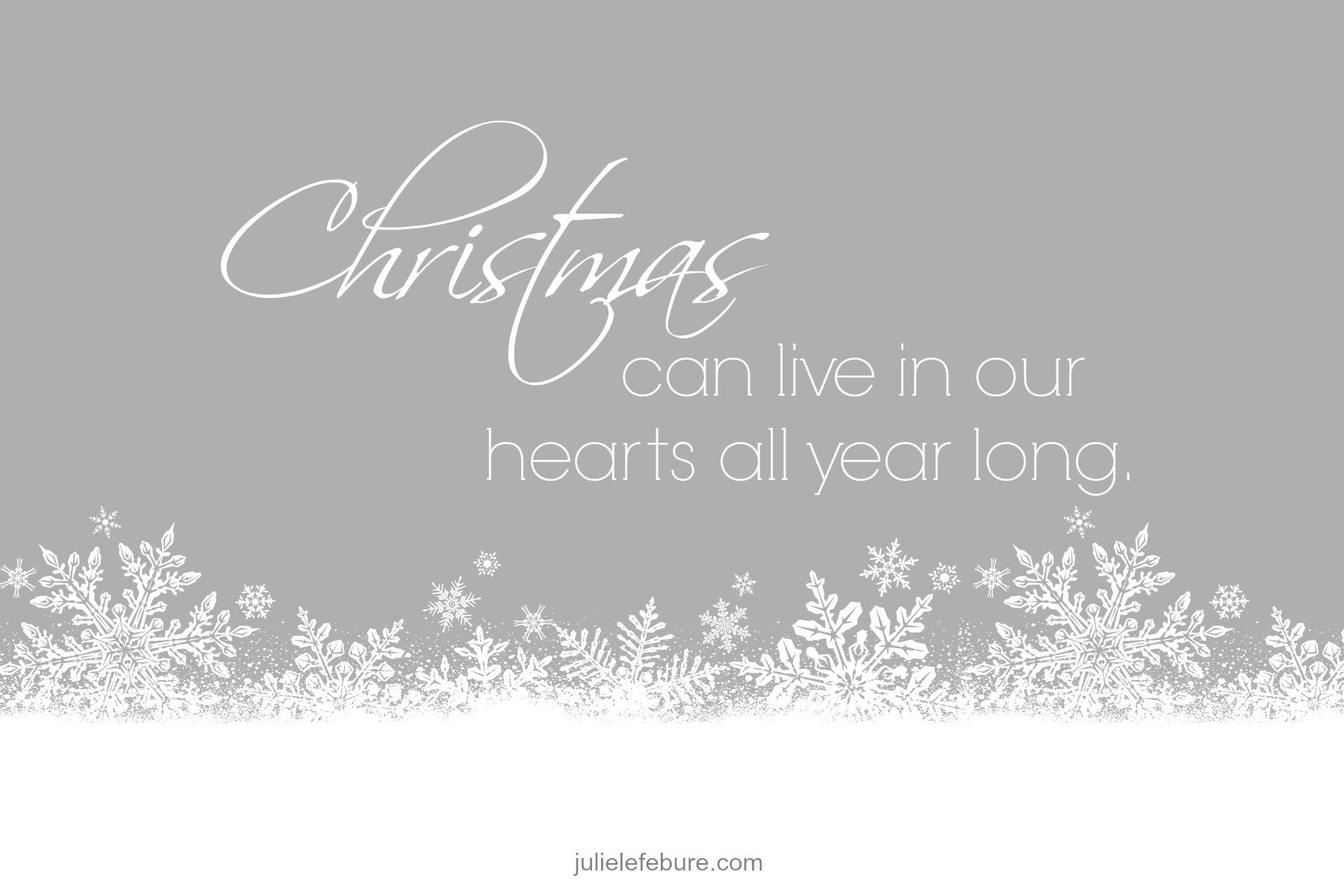 Avoid The Post-Christmas Blahs - Julie Lefebure