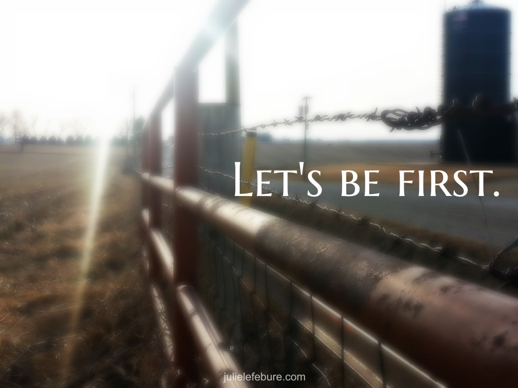 Let's be first