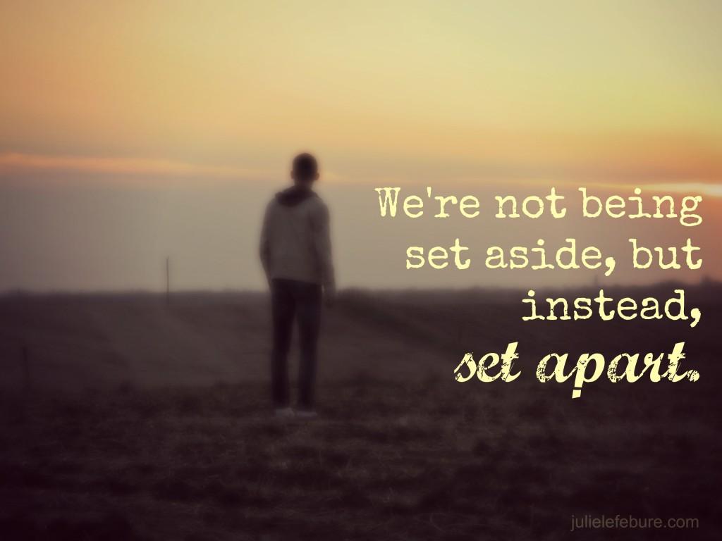 Limbo: Not set aside but set apart