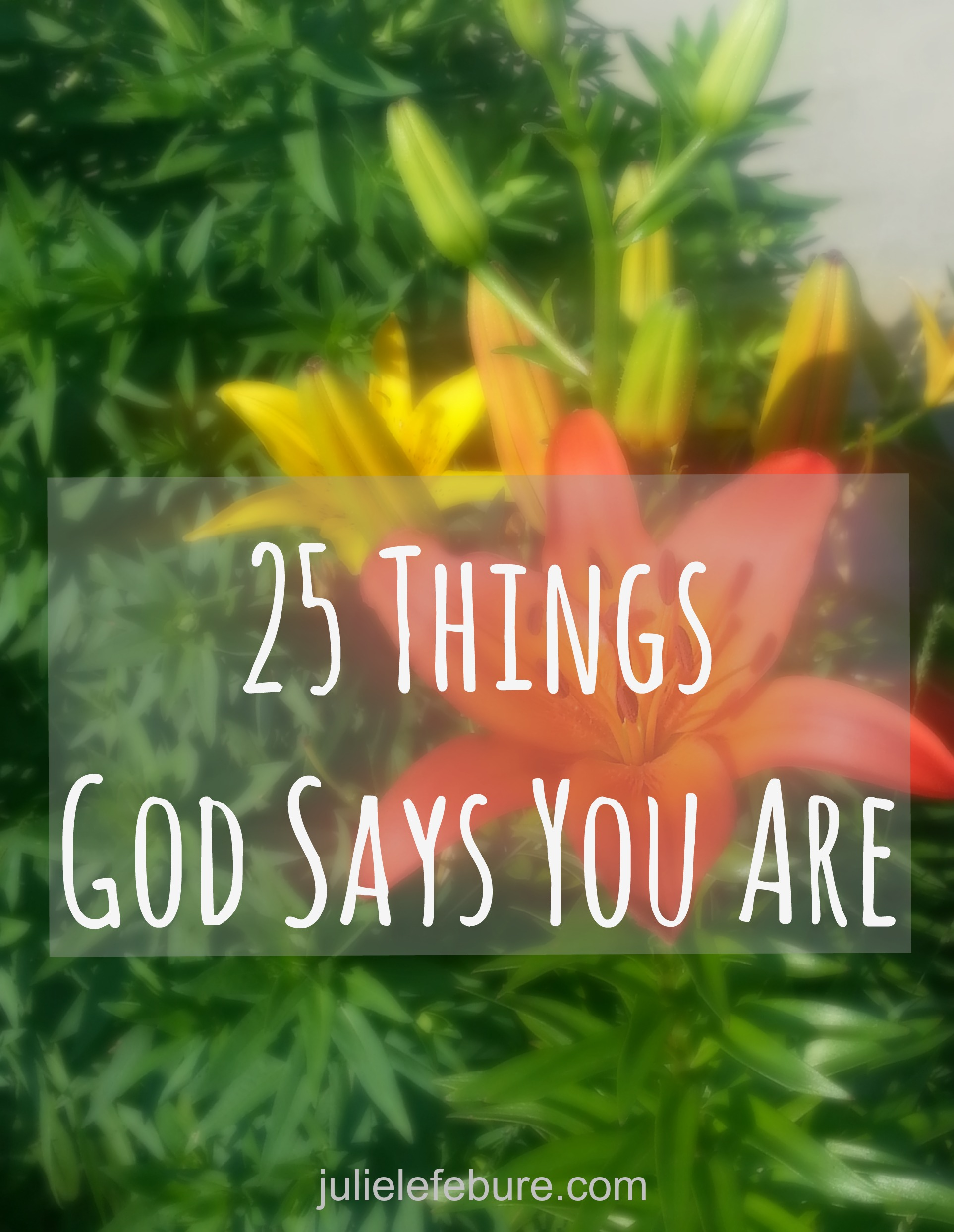 25 Things God Says You Are