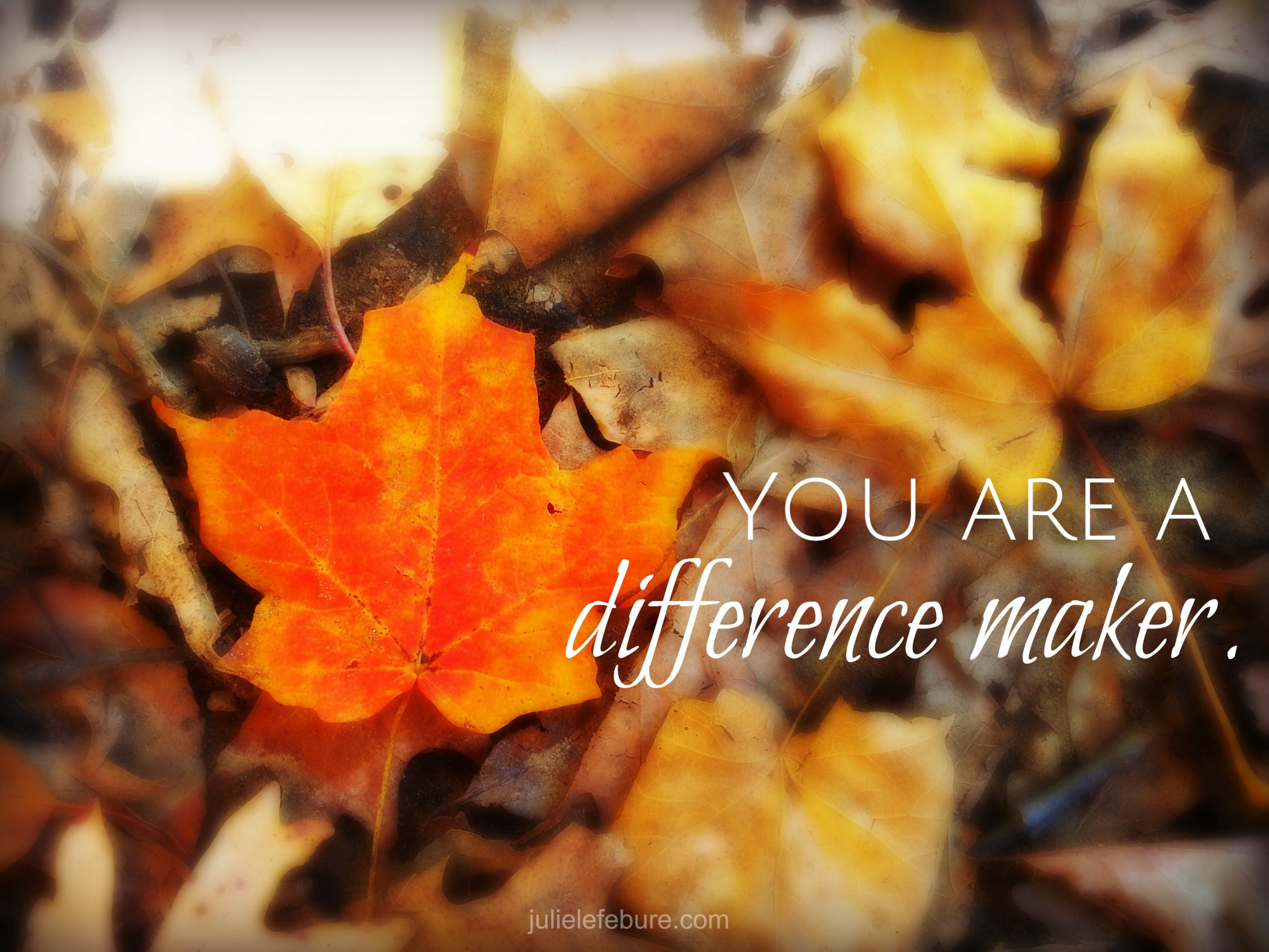 Friend, You Are A Difference Maker