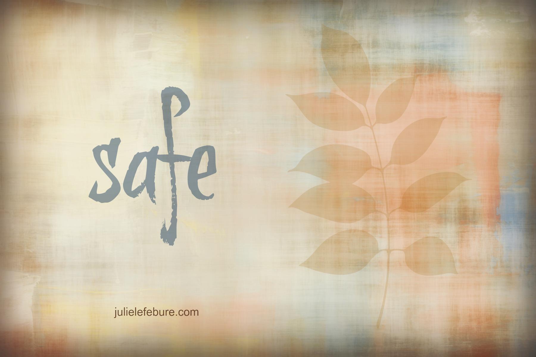 Five Minute Friday – Safe