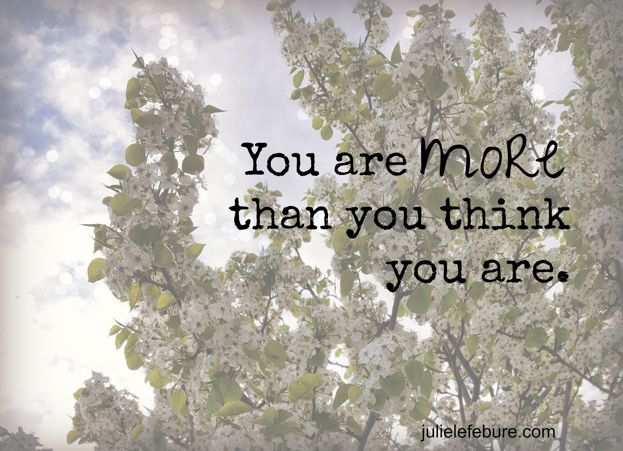 You Are More Than You Think You Are