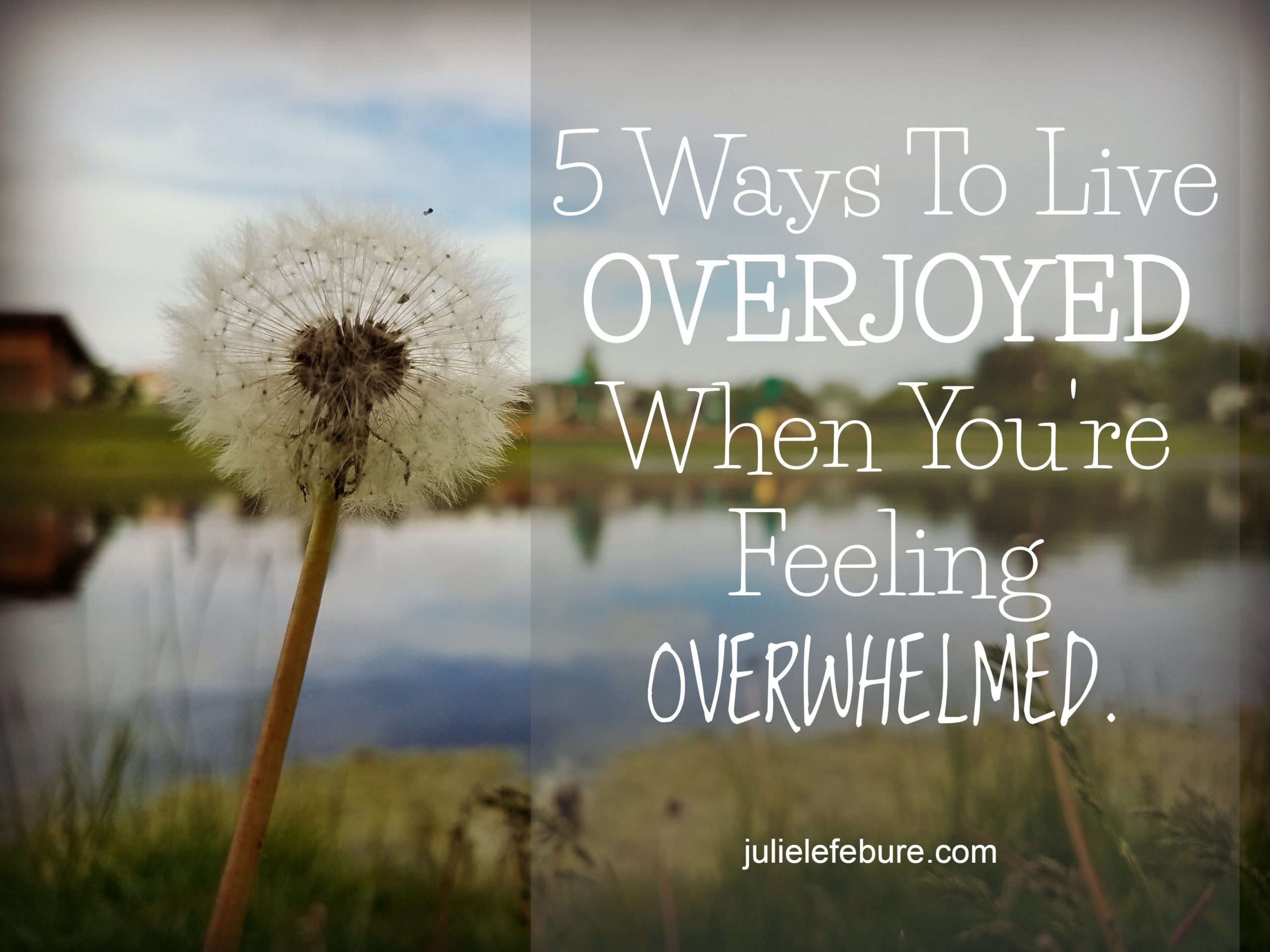5 Ways To Live Overjoyed When You're Feeling Overwhelmed
