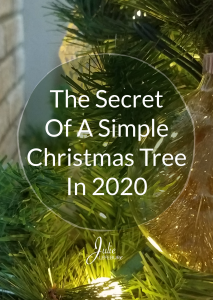 The Secret of a Simple Christmas Tree in 2020